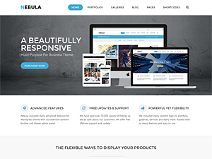Nebula WordPress Theme - Let Your Work Stand Out